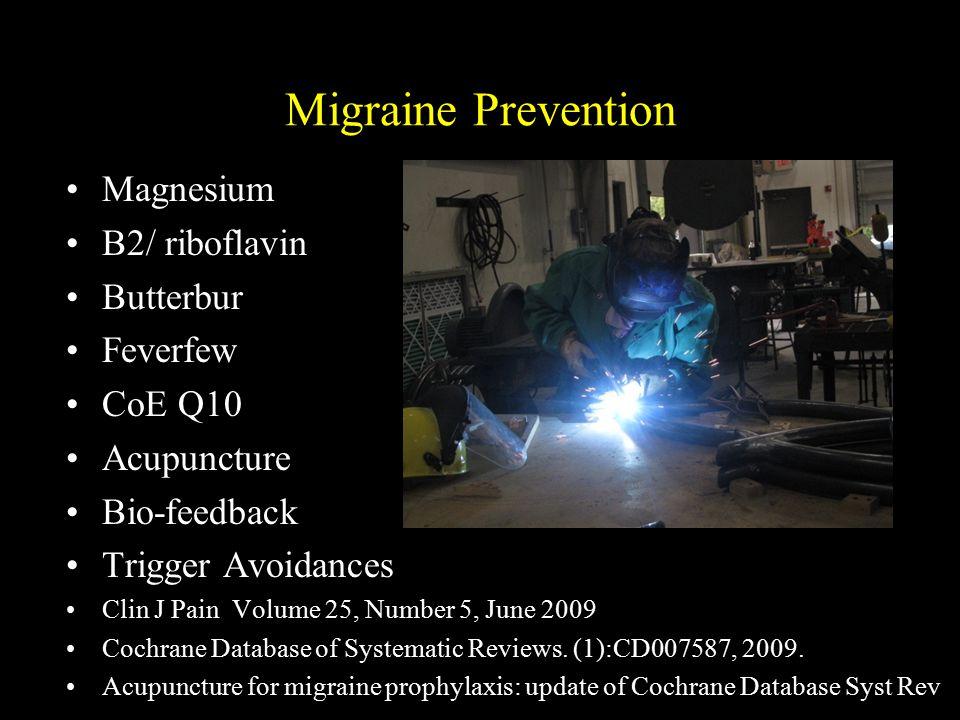 Migraine Prevention Magnesium B2/ riboflavin Butterbur Feverfew