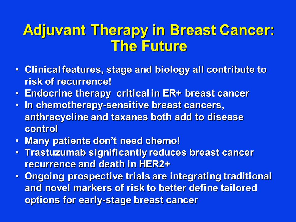 Adjuvant Therapy in Breast Cancer: The Future