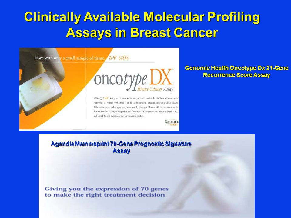 Clinically Available Molecular Profiling Assays in Breast Cancer
