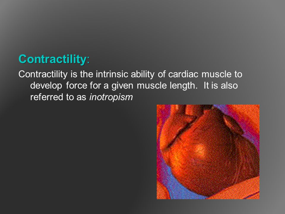 Contractility: