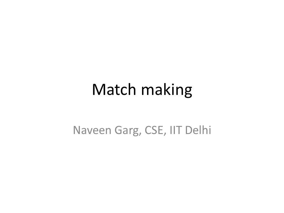 Naveen Garg, CSE, IIT Delhi
