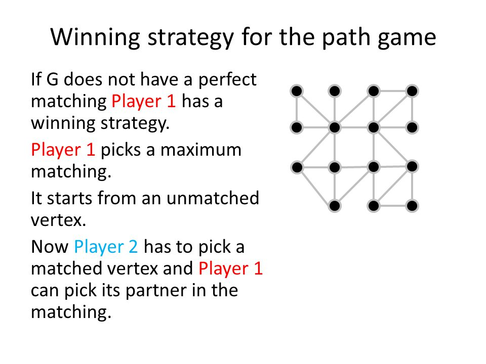 Winning strategy for the path game