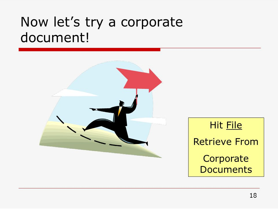 Now let's try a corporate document!