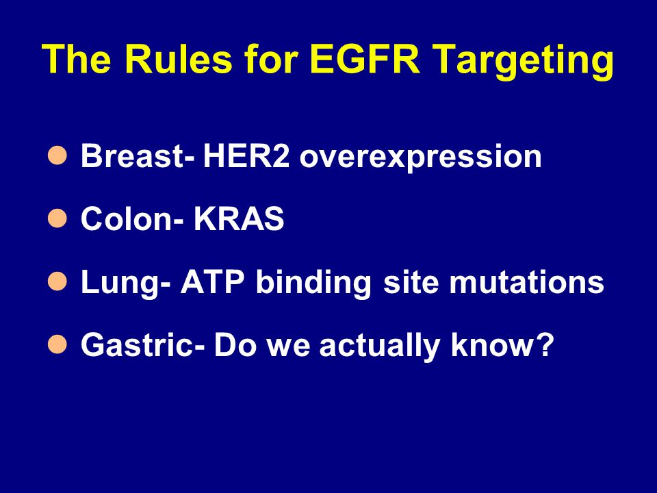 The Rules for EGFR Targeting