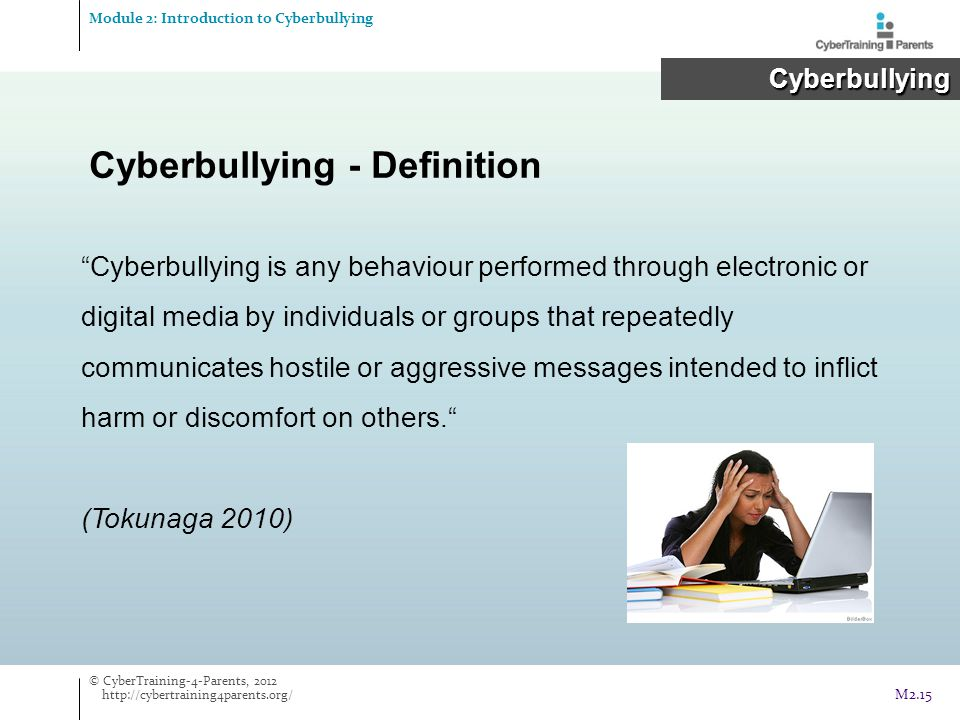 Cyberbullying - Definition