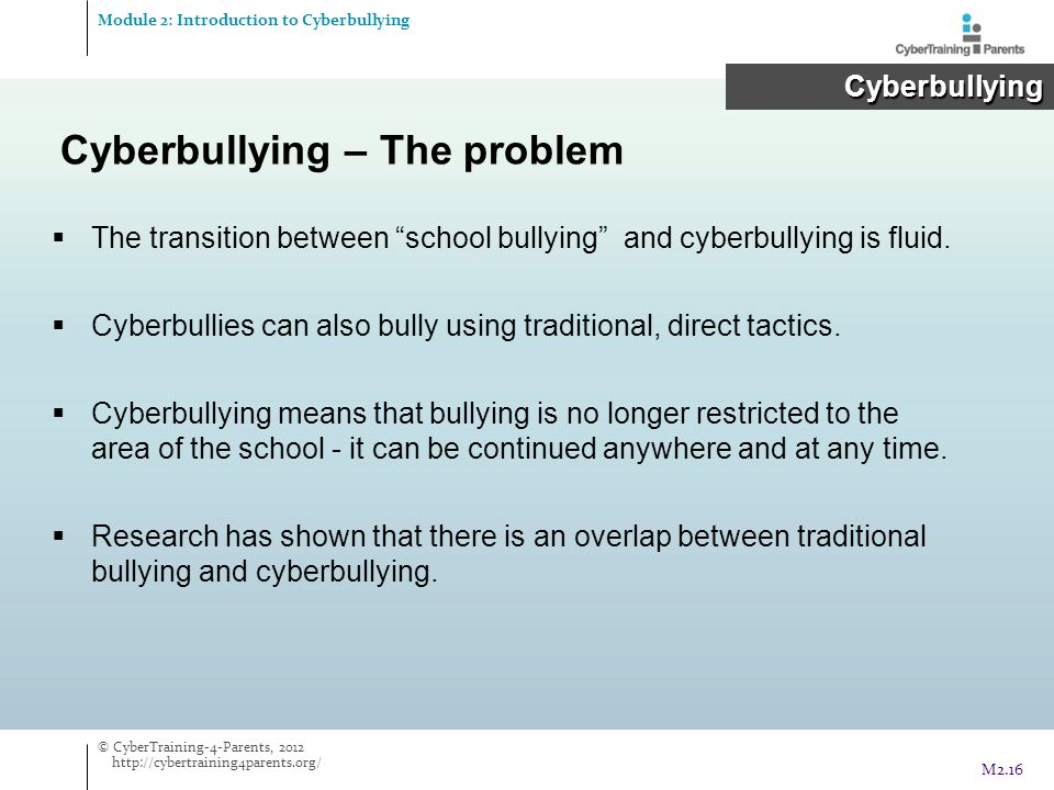 Cyberbullying – The problem