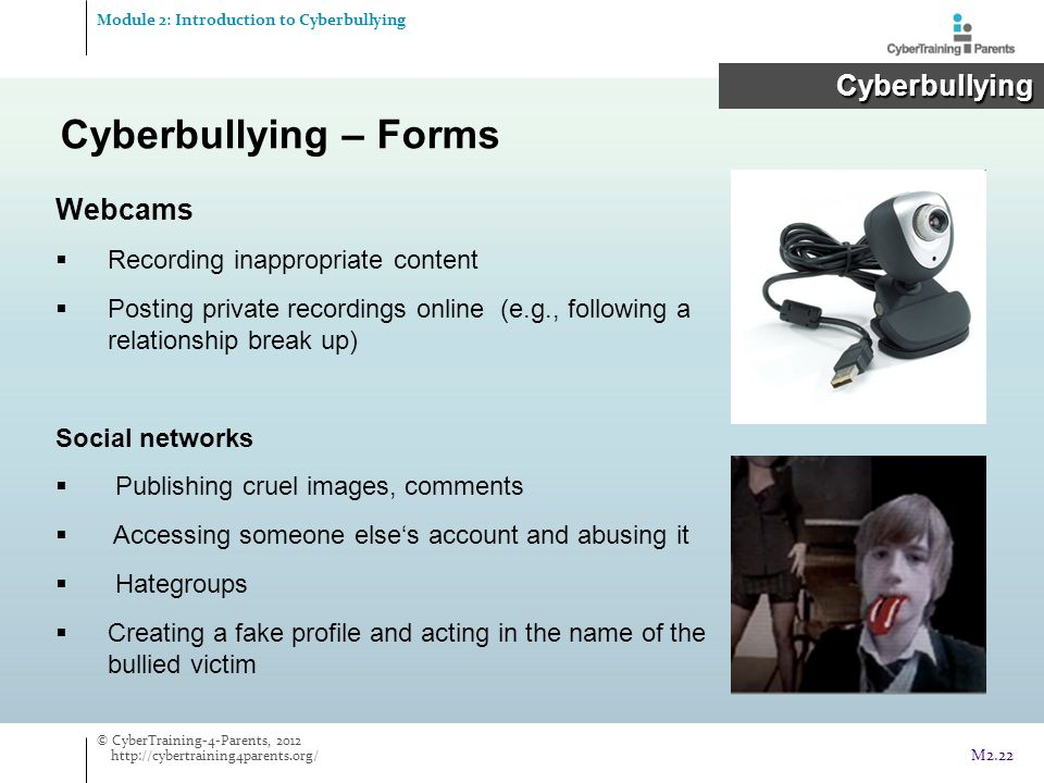 Cyberbullying – Forms Cyberbullying Webcams