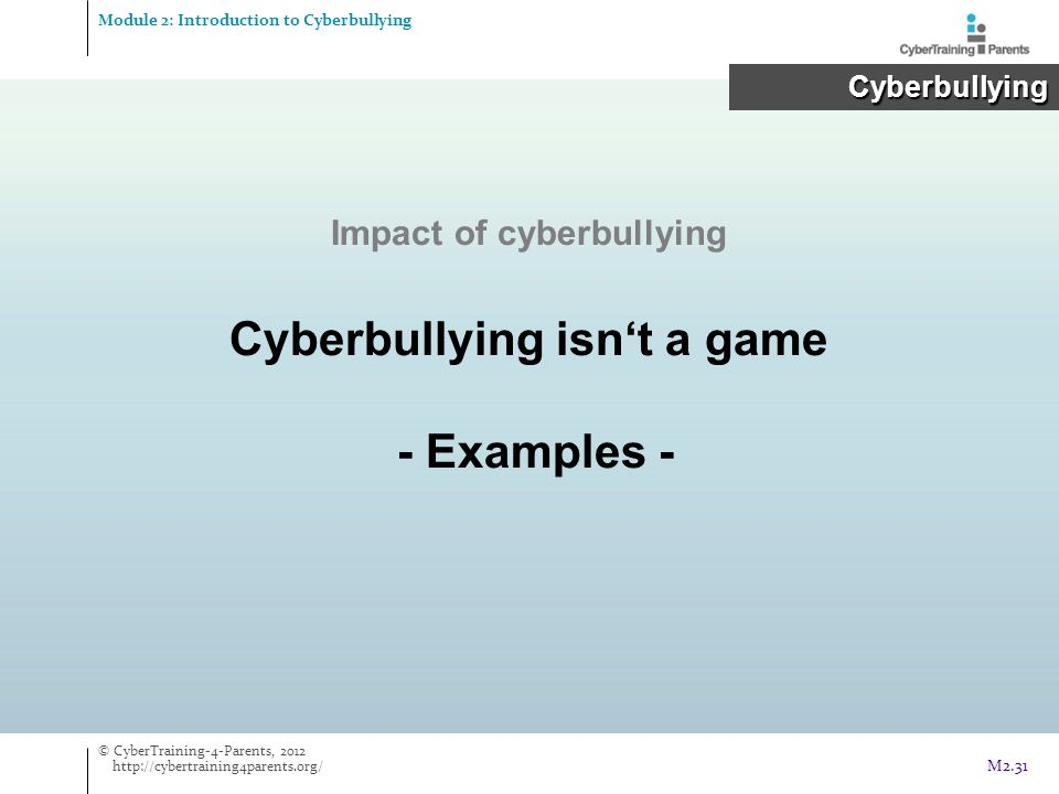 Cyberbullying isn't a game