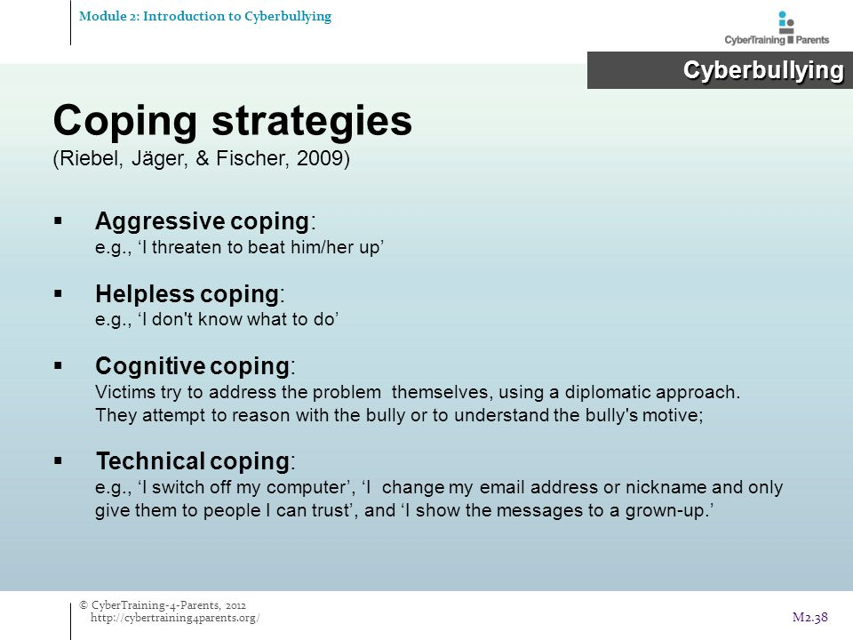 Coping strategies Cyberbullying