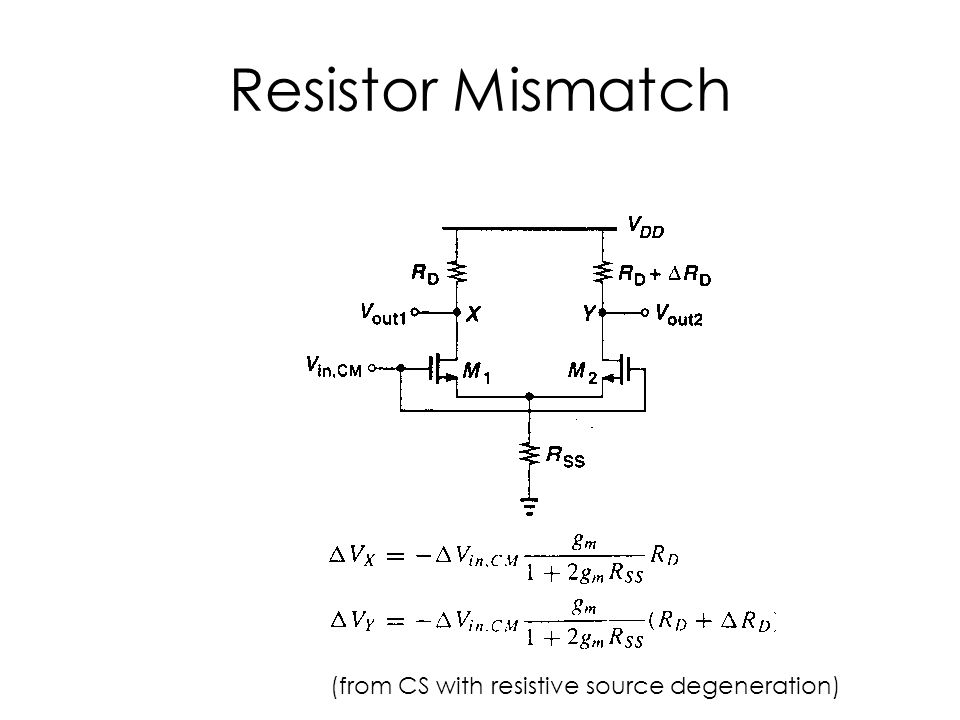Resistor Mismatch (from CS with resistive source degeneration)