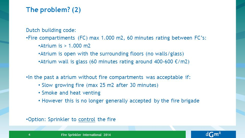 The problem (2) Dutch building code: