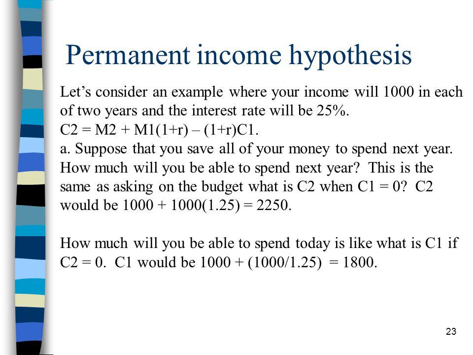 Permanent income hypothesis