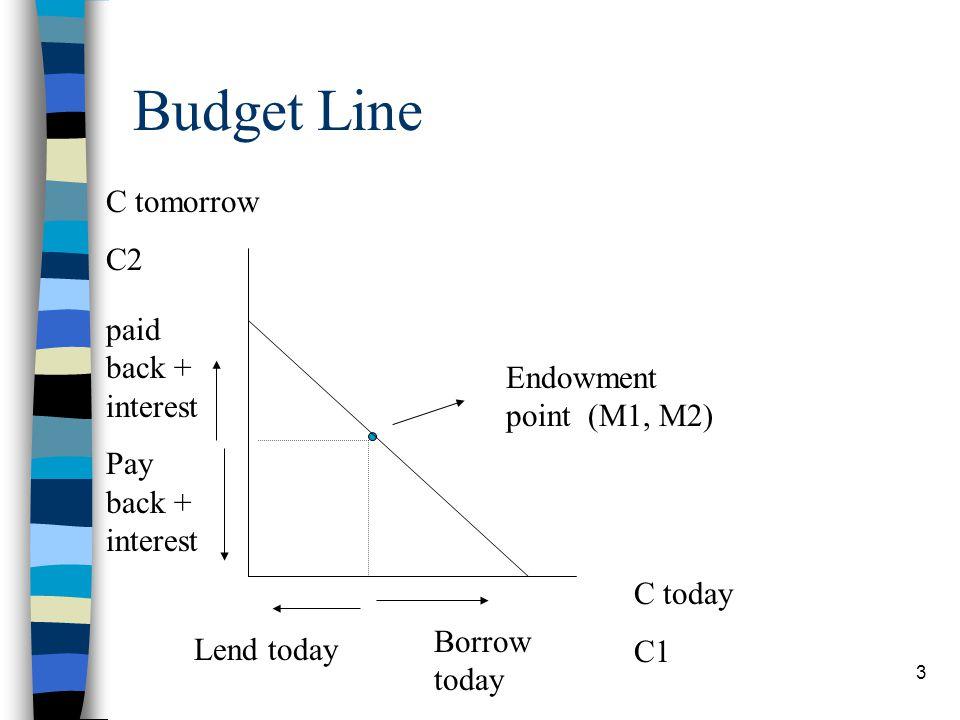 Budget Line C tomorrow C2 paid back + interest