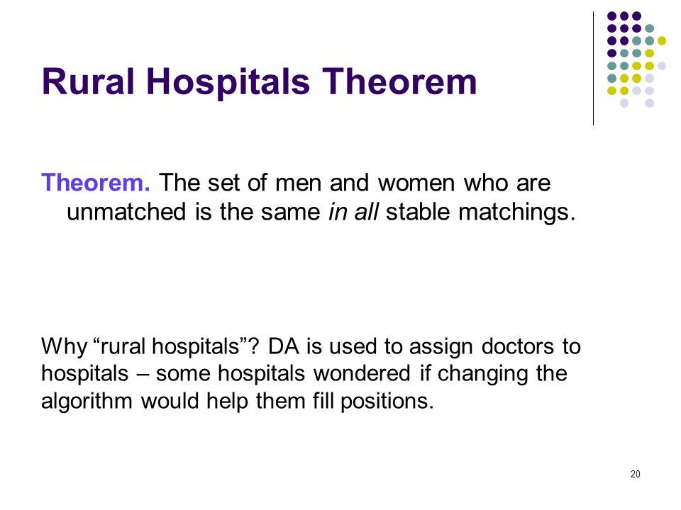 Rural Hospitals Theorem