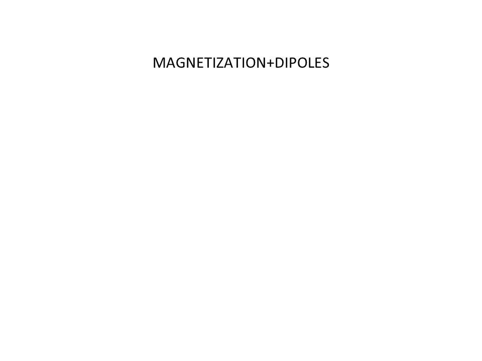 MAGNETIZATION+DIPOLES
