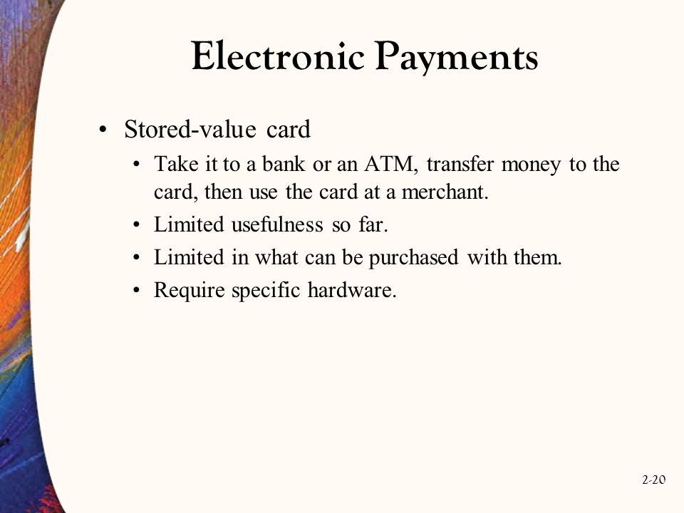 Electronic Payments Stored-value card