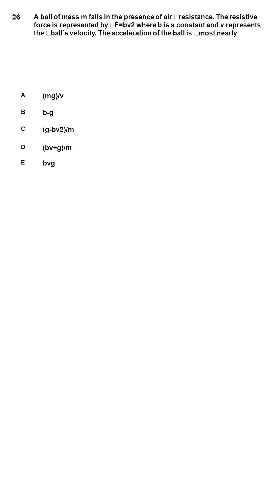 26 (mg)/v b-g (g-bv2)/m (bv+g)/m bvg