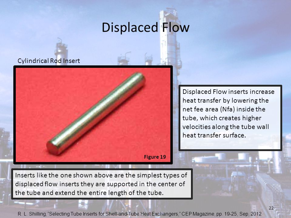 Displaced Flow Cylindrical Rod Insert
