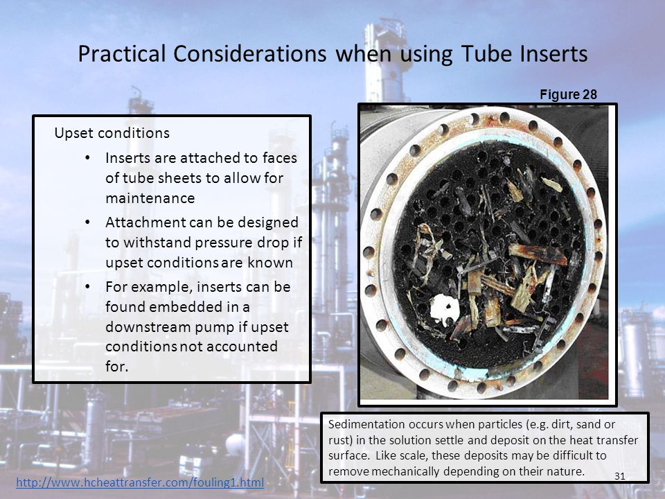 Practical Considerations when using Tube Inserts