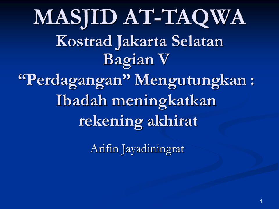 MASJID AT-TAQWA Kostrad Jakarta Selatan