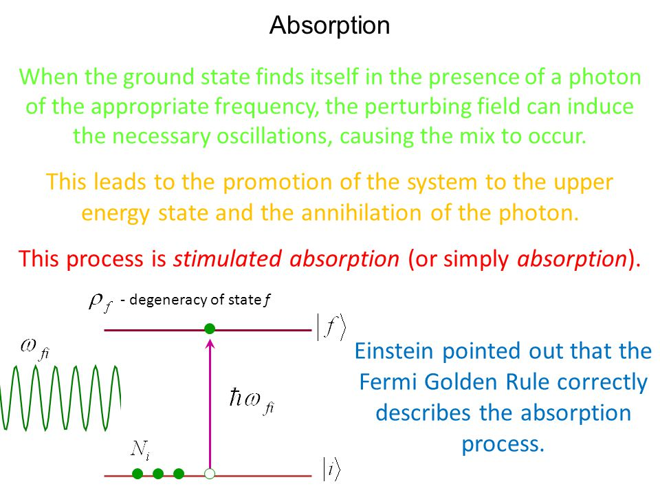 This process is stimulated absorption (or simply absorption).