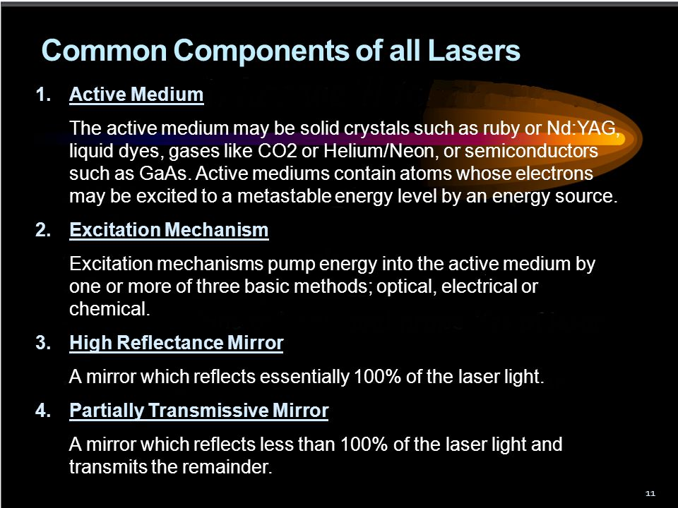 Common Components of all Lasers
