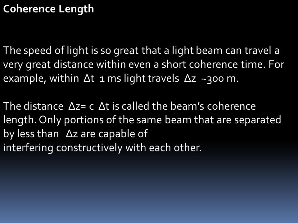 Coherence Length