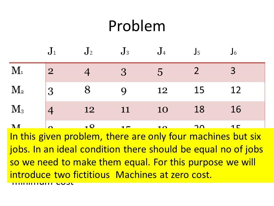Problem J1. J2. J3. J4. J5. J6. M1. 2. 4. 3. 5. M2. 8. 9. 12. 15. M3. 11. 10. 18.