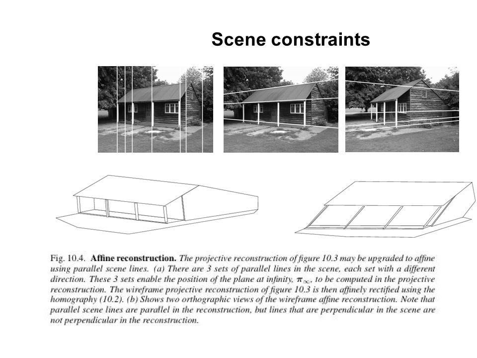 Scene constraints