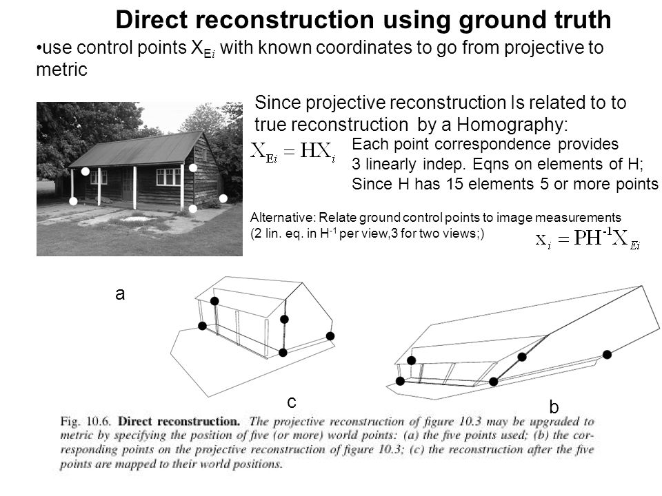 Direct reconstruction using ground truth