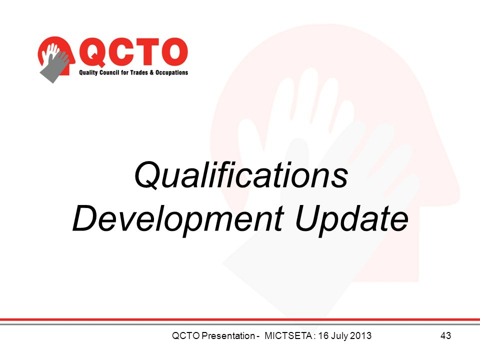 Qualifications Development Update
