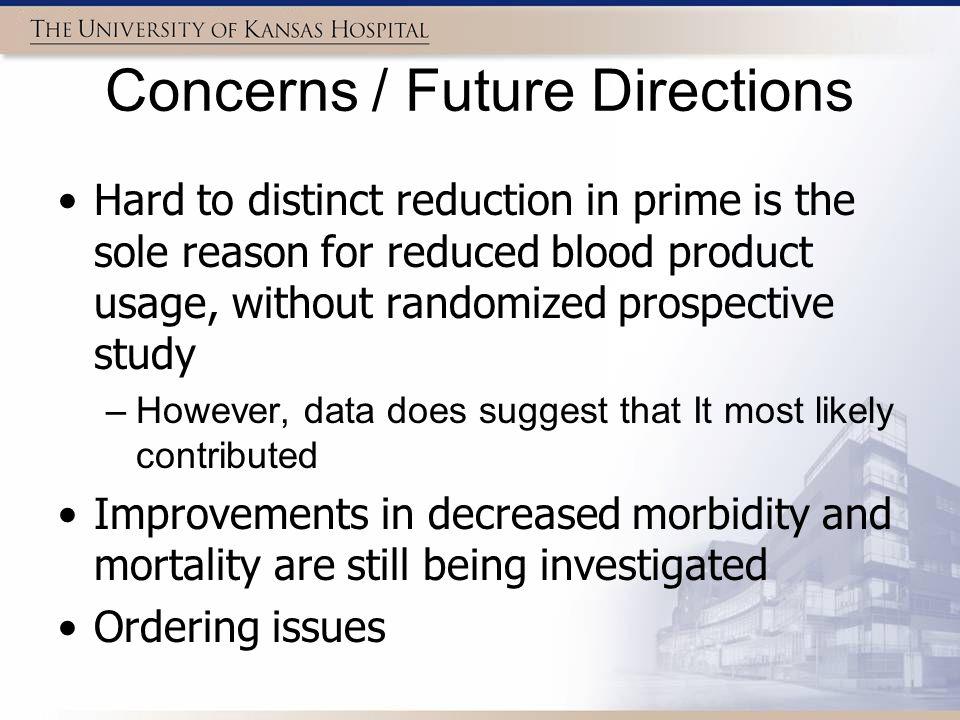 Concerns / Future Directions
