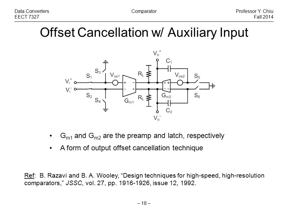 Offset Cancellation w/ Auxiliary Input