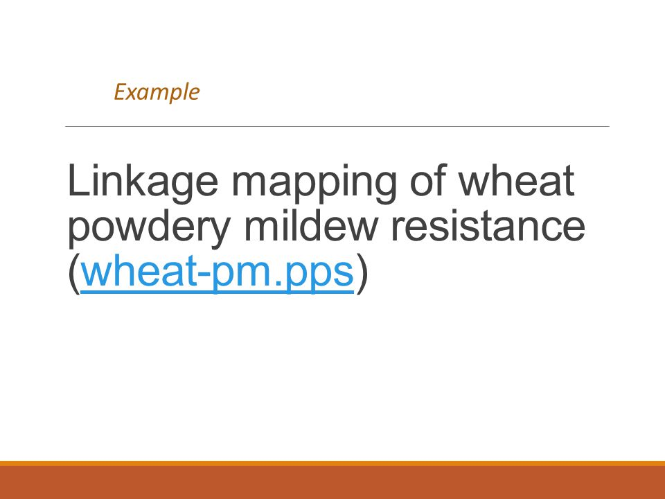 Linkage mapping of wheat powdery mildew resistance (wheat-pm.pps)
