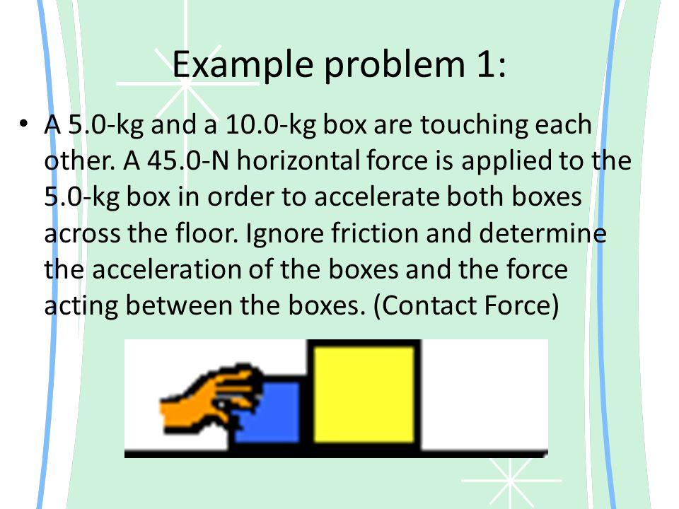 Example problem 1: