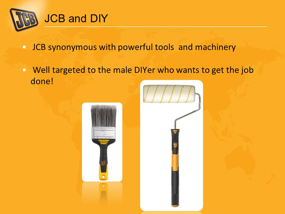 JCB and DIY JCB synonymous with powerful tools and machinery