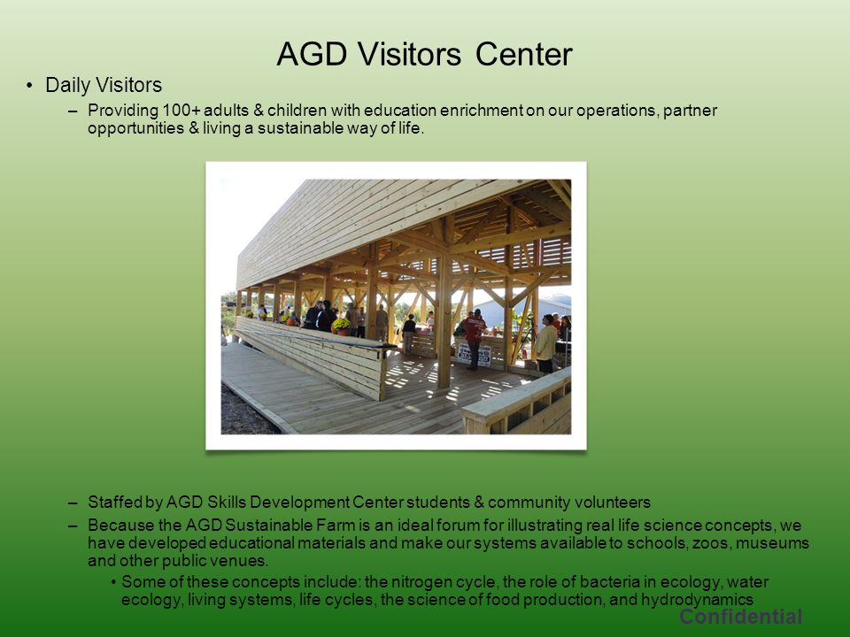 AGD Visitors Center Confidential Daily Visitors
