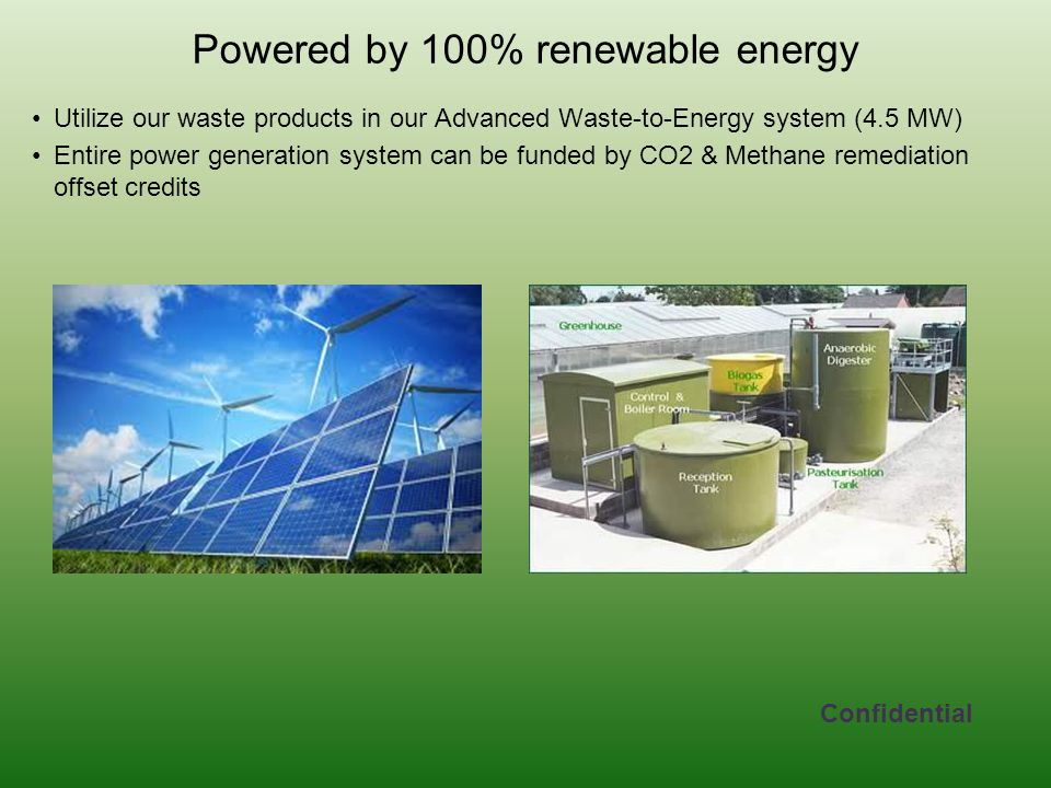 Powered by 100% renewable energy
