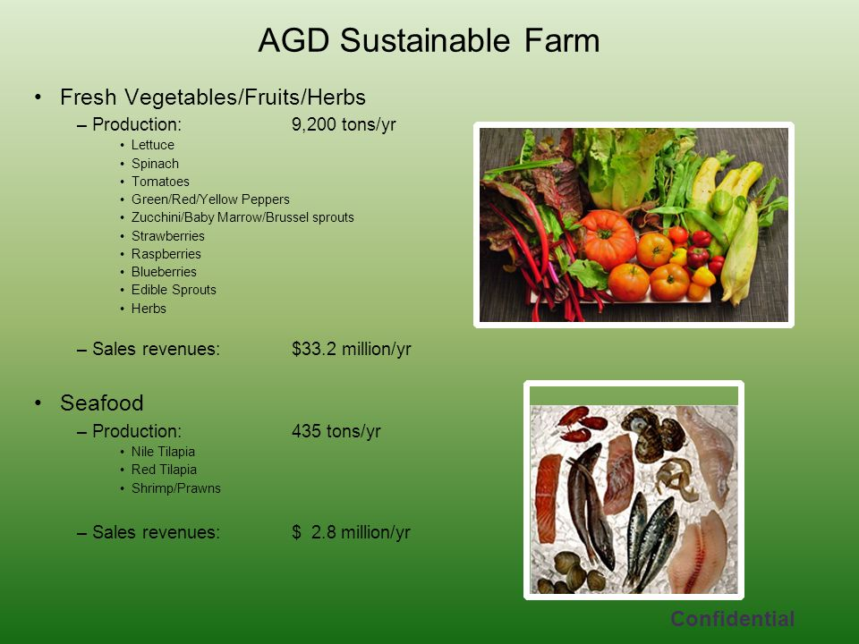 AGD Sustainable Farm Fresh Vegetables/Fruits/Herbs Seafood