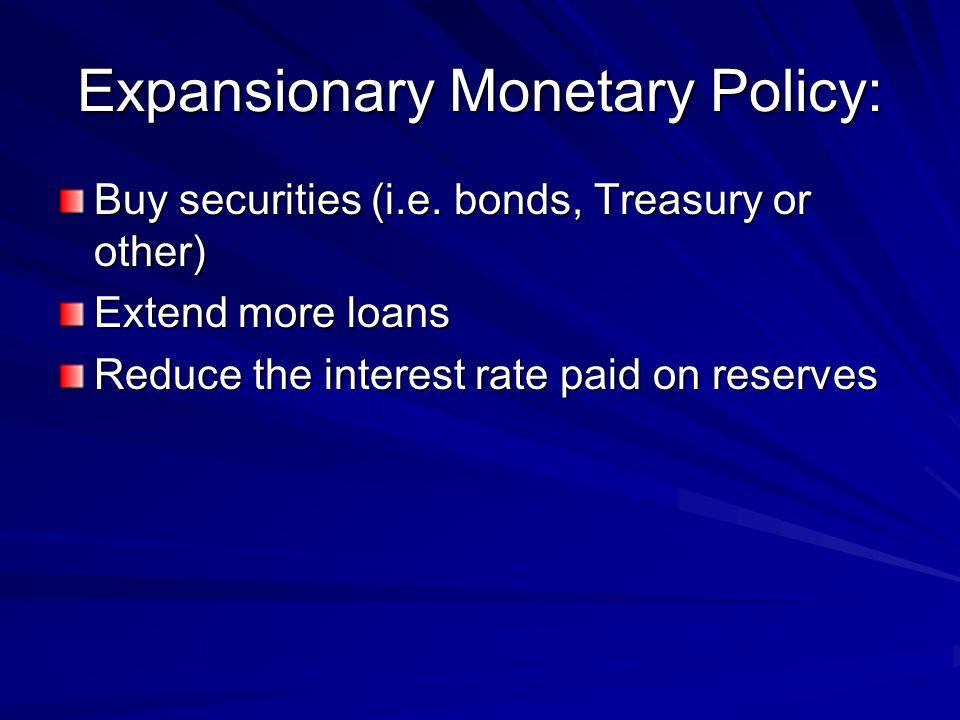 Expansionary Monetary Policy: