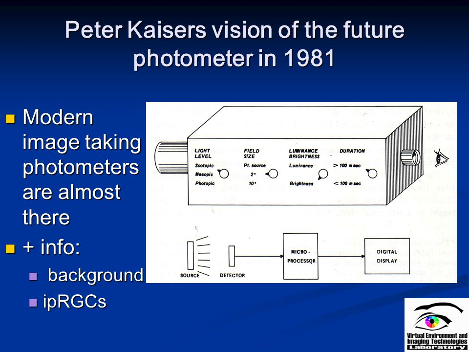 Peter Kaisers vision of the future photometer in 1981