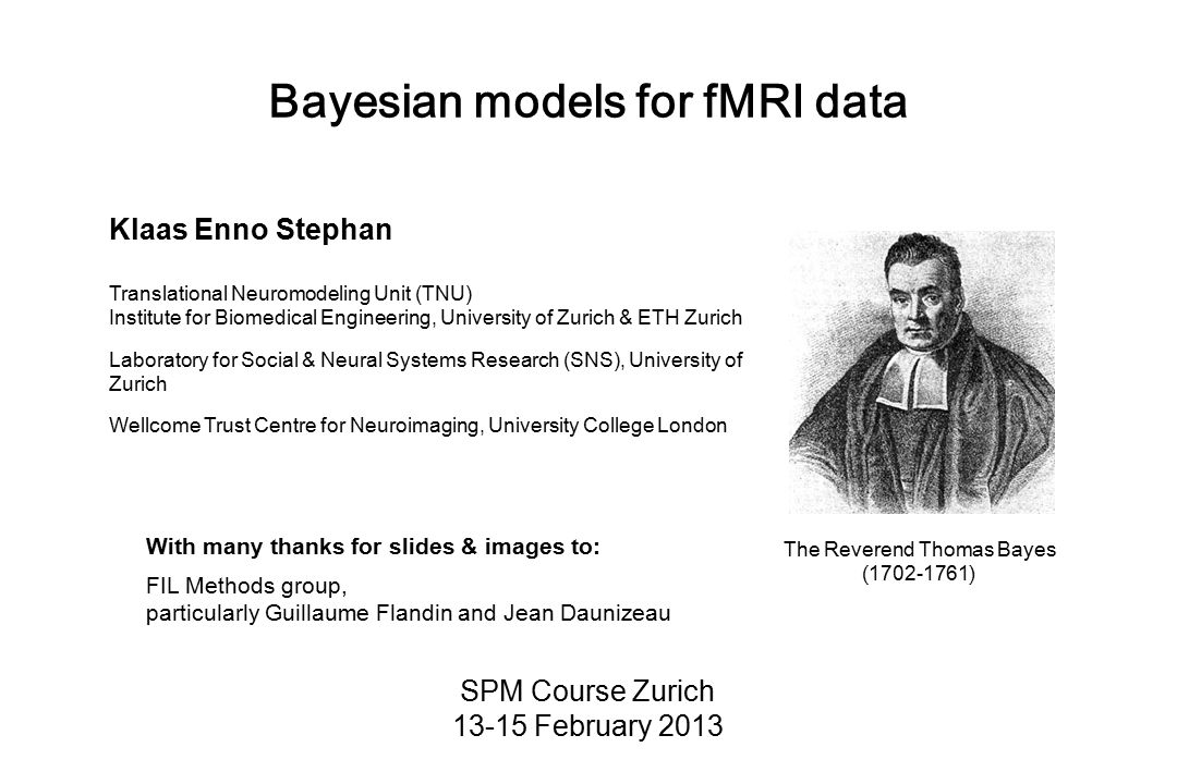Bayesian models for fMRI data