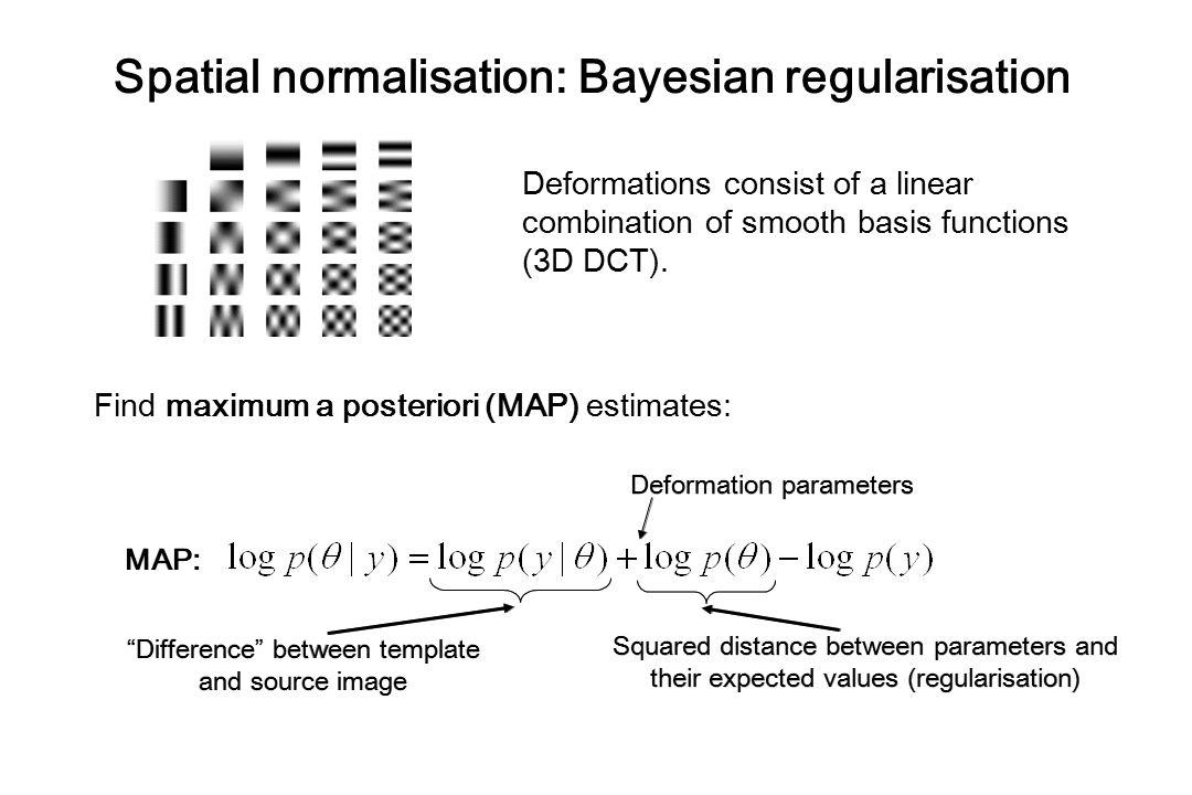 Spatial normalisation: Bayesian regularisation