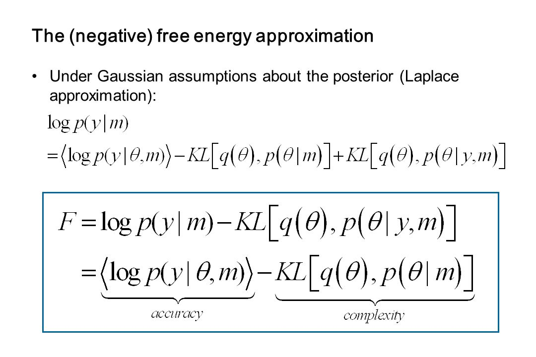 The (negative) free energy approximation