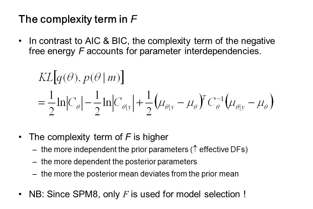 The complexity term in F