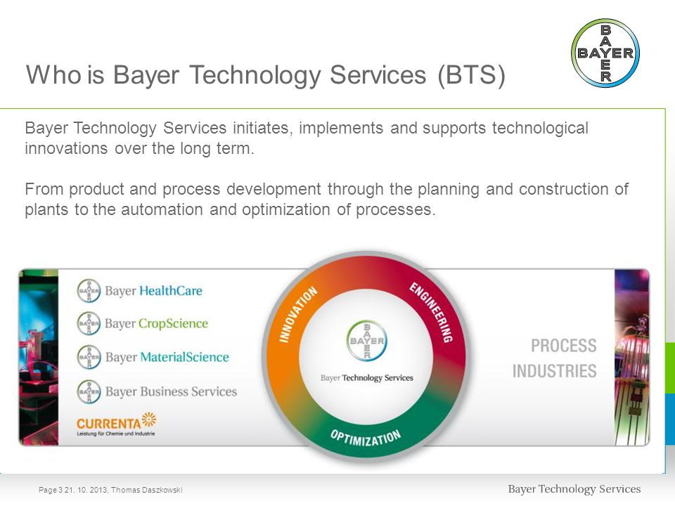 Who is Bayer Technology Services (BTS)