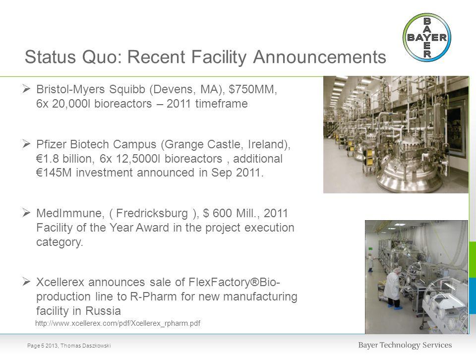 Status Quo: Recent Facility Announcements