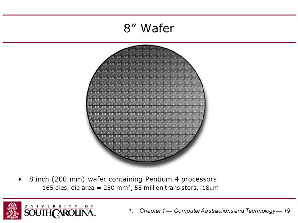 8 Wafer 8 inch (200 mm) wafer containing Pentium 4 processors