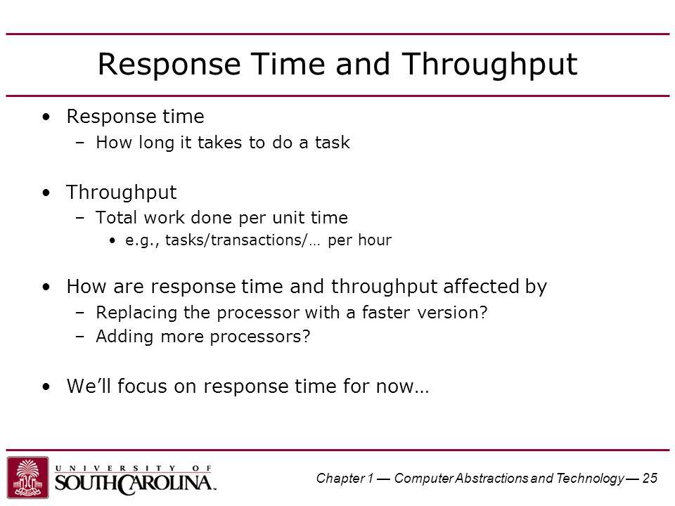 Response Time and Throughput