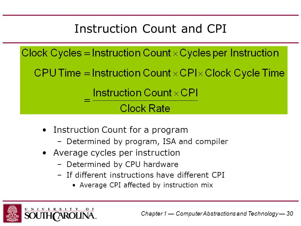 Instruction Count and CPI